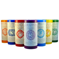 Chakra Pillar Candle on Sale for $14.95 at HippieShop.com