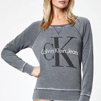 Calvin Klein Oversized Crew Neck Sweatshirt at PacSun.com