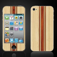 Faux Light Wood  iPod Touch 4 4th Gen Vinyl Decal Wrap by ItsASkin