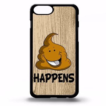 DCCK7BE Poo emoji poop happens life quote phrase funny gift cartoon art phone case cover