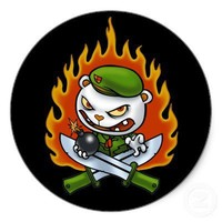 Flippy Flame Tattoo Sticker from Zazzle.com