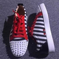 Christian Louboutin CL Low Style #2055 Sneakers Fashion Shoes Best Deal Online