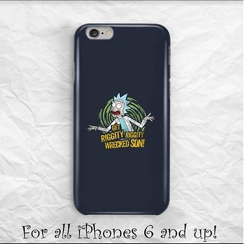 Rick and Morty Riggity Wrecked Sun iPhone case