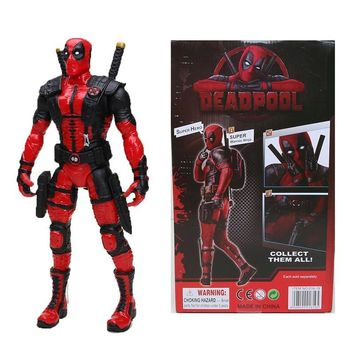 "12"" 30cm Marvel the Avengers Justice league Crazy Toys Deadpool PVC Action Figure Collectible Model Toy children gift"