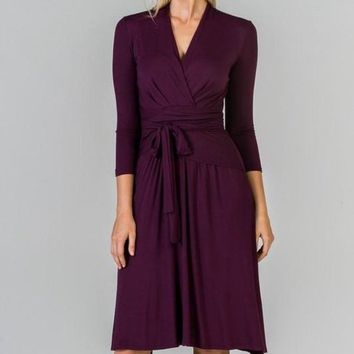 """Alex"" Midi Wrap Dress"