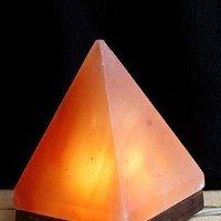 HIMALAYAN PYRAMID SALT LIGHT - AMBER