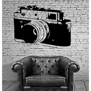 Old Camera Photography Pictures Wall Decor Mural Vinyl Decal Art Sticker Unique Gift M558