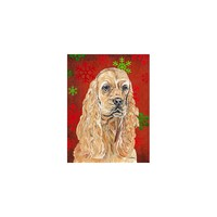 Caroline's Treasures Cocker Spaniel Red Snowflake Christmas House Flag