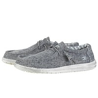Wally Canvas Shoe in Linen Iron by Hey Dude