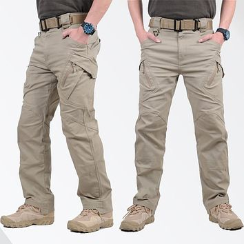 TAD IX9 Militar Tactical Cargo hike Pants Men Combat SWAT Army Train Military Pants Cotton Hunter Outdoors Casual MenTrousers