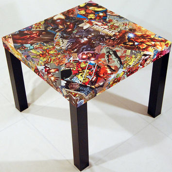 Iron Man Comic Collage Table FREE SHIPPING USA
