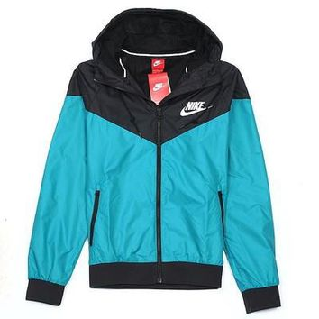 nike fashion hooded zipper cardigan sweatshirt jacket coat windbreaker sportswear-5