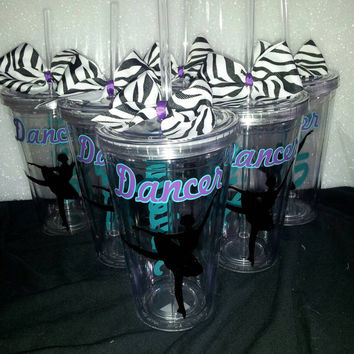 10 Dance Personalized Tumbler - Ballet Tumble - Ballet Gift - Dancer Gift