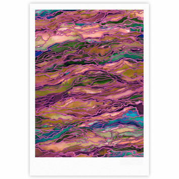 "Ebi Emporium ""Marble Idea! - Light Jewel Tone"" Lavender Pink Fine Art Gallery Print"