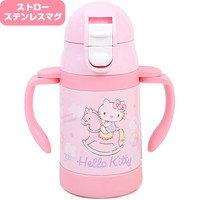 ☆ Sanrio baby article series ★ black cat DM service impossibility for exclusive use of the Hello Kitty stainless steel straw mug cold storage