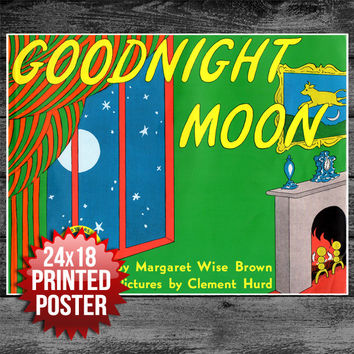 Book Cover Art Print Poster Goodnight Moon Unique Gift