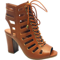 The Luxe Mode Jamie Brown Laser Cut Lace Up Booties