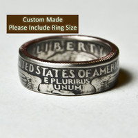 Custom Made / Sizes 5-12 / Washing Coin Ring (Please include size in purchase notes)