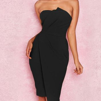 Elegant  Sexy Strapless Dress