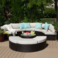 9-piece Outdoor Patio Sectional