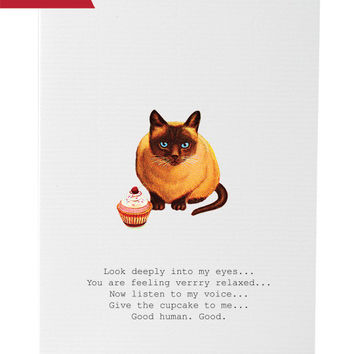 Hypnotic Cat Greeting Card