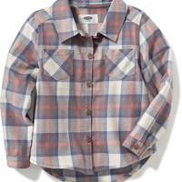 Plaid Twill Shirt for Toddler | Old Navy
