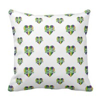 Happy Mardi Gras Logo Throw Pillow