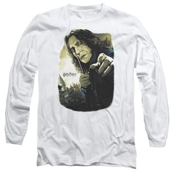 Harry Potter - Snape Poster Long Sleeve Adult 18/1 Officially Licensed Shirt