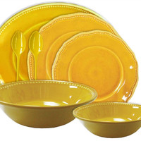 Provence Solid Yellow Melamine Dinnerware