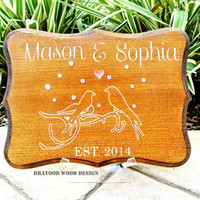 Family Name Wood Sign // Personalized Carved Last name with Year Established // Anniversary Gift or Wedding Gift