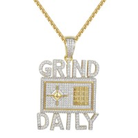 Grind Daily Money Safe Vault Pendant Charm Pendant