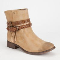 Roxy Skye Womens Boots Tan  In Sizes