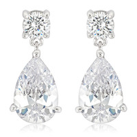 Elegant Cubic Zirconia Drop Earrings
