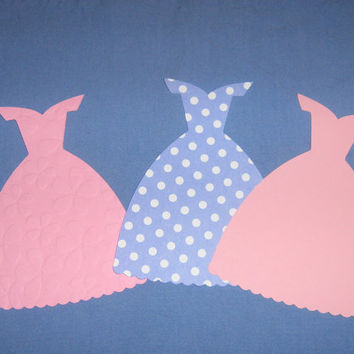 Princess dress cut outs for banner by ThePaperdollPrincess on Etsy