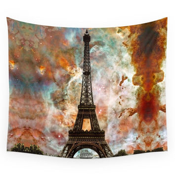 Society6 The Eiffel Tower Paris France Art By Sha Wall Tapestry