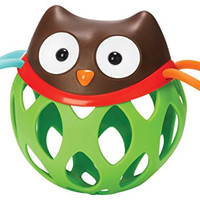 Skip Hop Baby Explore and More Roll Around Toy Rattle for Infants, Owl