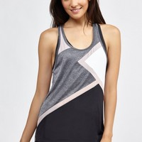 Sabrina Matrix Tank in Heather Grey/Blush/BW by Splits59 | Tops | BANDIER