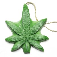 Northern Lights Dope on a Rope - Eucalyptus & Peppermint Pot Leaf shaped Soap on a Rope