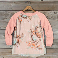 Library Card Sweater in Pink