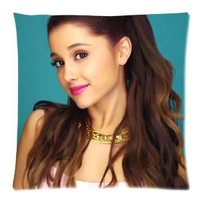 Ariana Grande Custom Pillowcase Covers Zippered Pillow Cushions Cases 18x18 (Two sides)