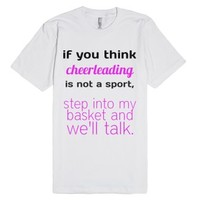 Cheerleading-Unisex White T-Shirt