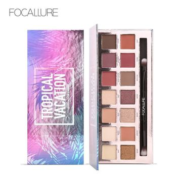 Focallure 14 Colors Pro Makeup Glitter Eyeshadow Shimmer Eye Shadow Pigment  Beauty Makeup   Shadow