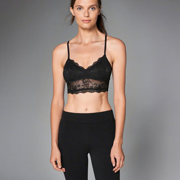 Womens Strappy Lace Bralette   Womens Clearance   Abercrombie.com