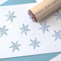 Filigree Snowflake Rubber Stamp