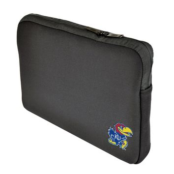 Kansas Jayhawks Big Jay Black Neoprene Laptop 15-15.6 inch Sleeve Bag