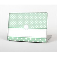 The Vintage Light Green Polka Dot With White Strip copy Skin Set for the Apple MacBook Pro 13""
