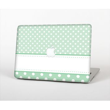 The Vintage Light Green Polka Dot With White Strip copy Skin Set for the Apple MacBook Air 11""
