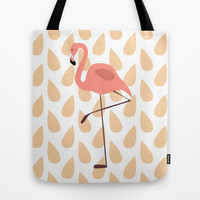 Flamingo Tote Bag by Pati Designs | Society6