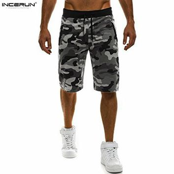 Men casual camouflage gym military shorts