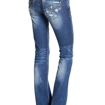 Miss Me Simply Distressed Boot Cut Jeans
